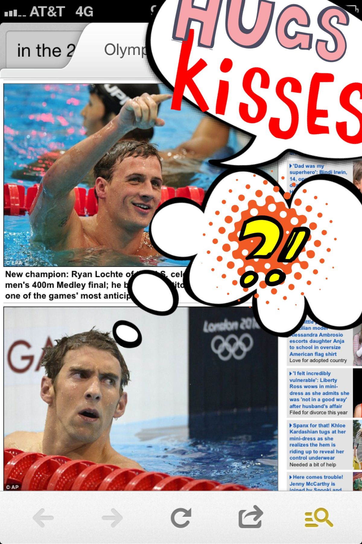Cute and cuter! They are both awesome! I admire them both as a swimmer ❤❤❤