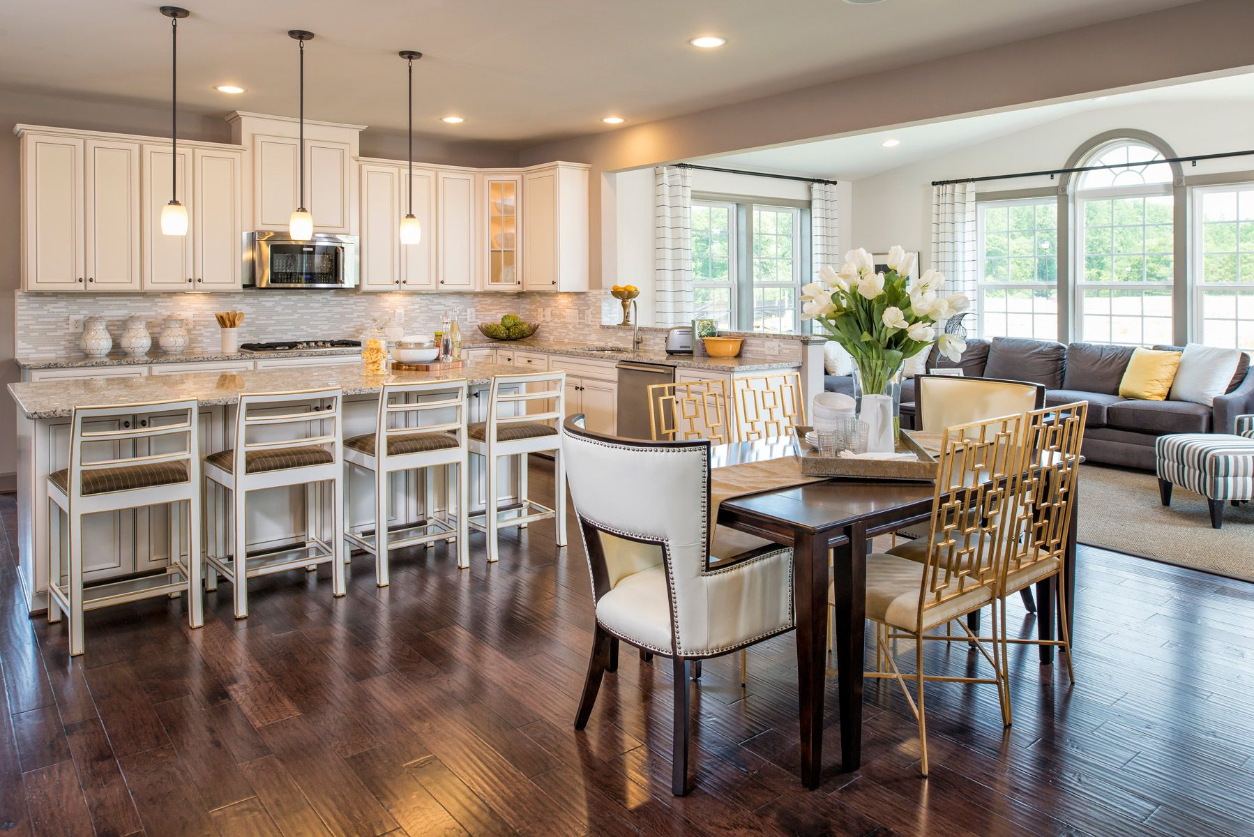 Love This Amazing Kitchen The Crosby At Marlboro Riding Home Kitchens Kitchen Dinning Glass Cabinet Doors
