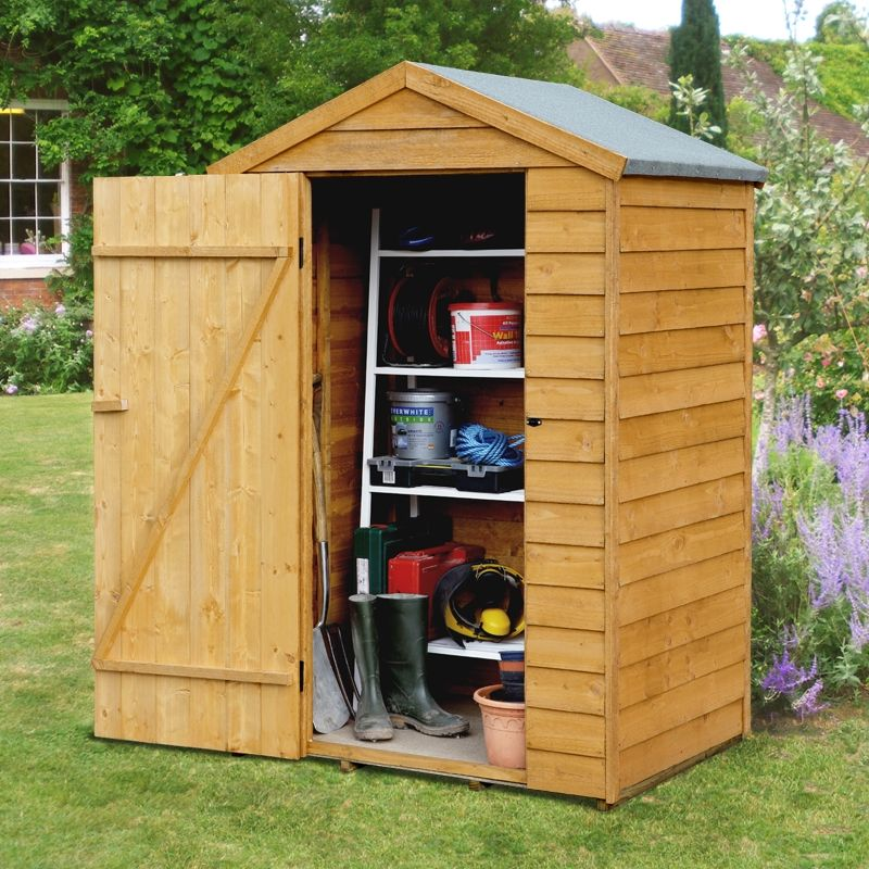 4 x 3 Overlap Apex Wooden Shed Wooden sheds