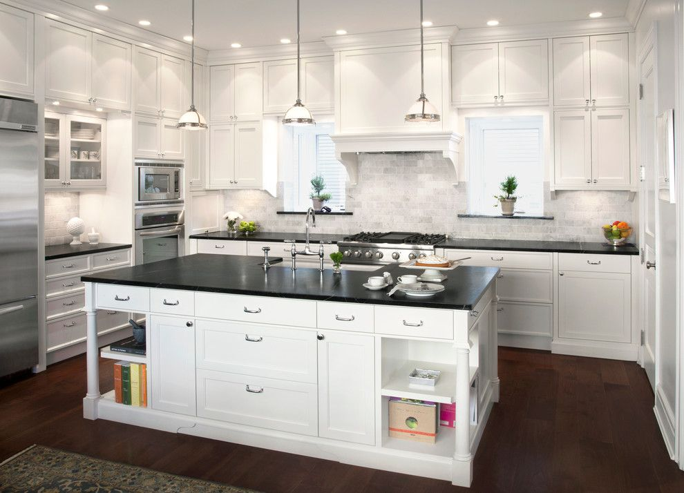 3x6 subway tile kitchen traditional with baseboards ceiling lighting
