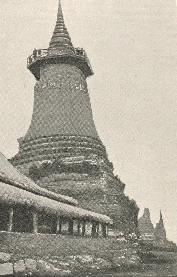 Wat Phnom in 1889  in P. Collard, the Khmer country. Monograph of Cambodia (© ANOM subject to the rights reserved to authors and rightsholders)
