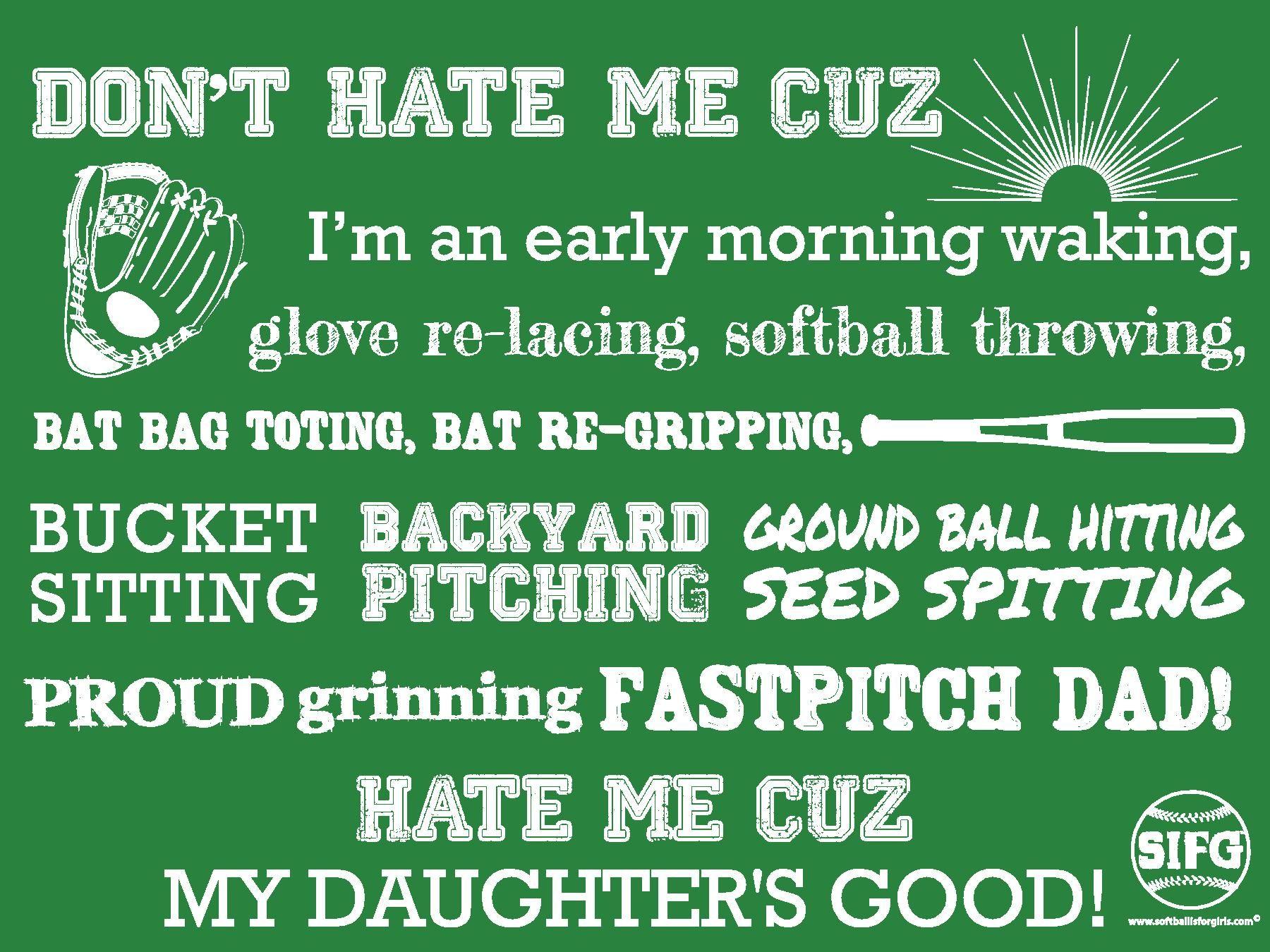 dads of fastpitch softball players shirt softball baseball ideas