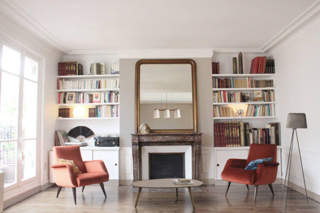 Beau Miroir Sur Fond Peint Choisir Vert Amende Biblioth Ques  # Bibliotheque Sur Mesure Salon