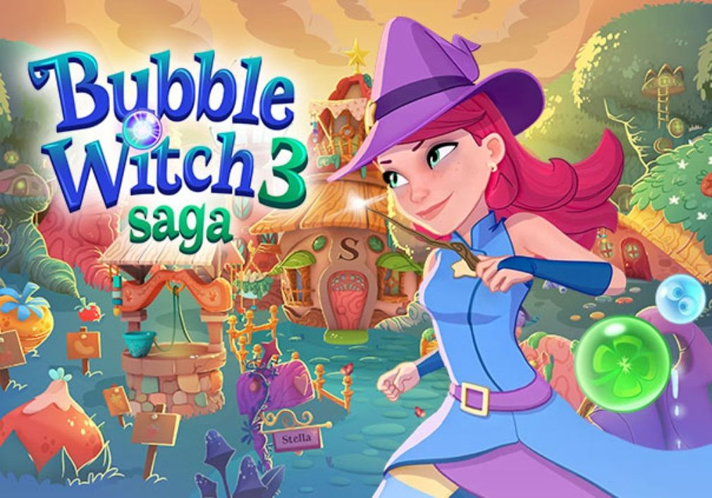 Bubble Witch 3 Saga 6 5 9 Apk Mod Unlimited Boosters More For Android Cheats Gamecheats Gamehack Apkmod Modapk Bubbles Saga Candy Games