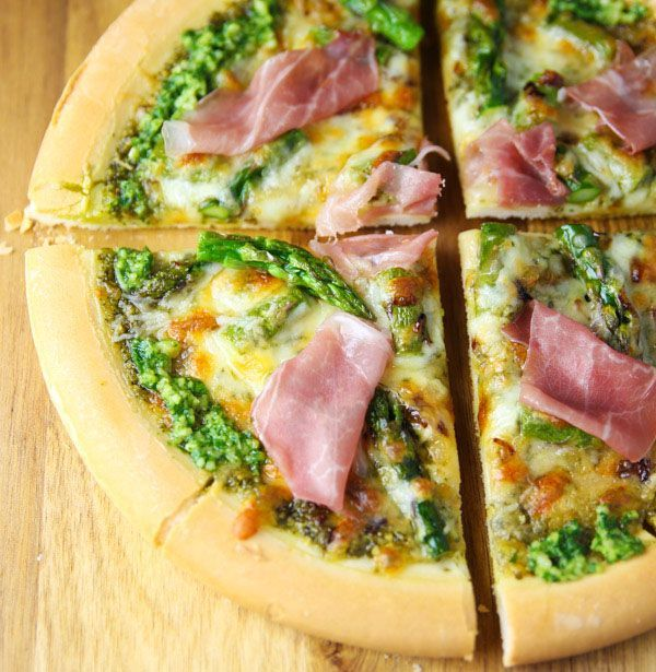 This Lemon Pesto Asparagus and Prosciutto Pizza is made with fresh ingredients and is incredibly savory Its the perfect Springtime pizza