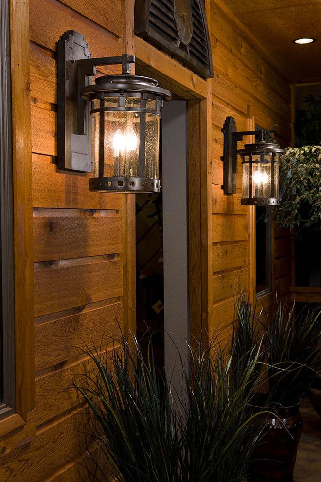 Rustic Outdoor Lighting Spaces Rustic with Bronze Outdoor Lighting