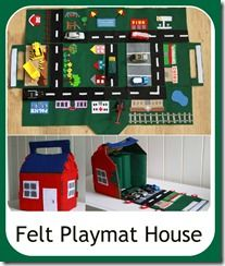 Felt house/ car play mat