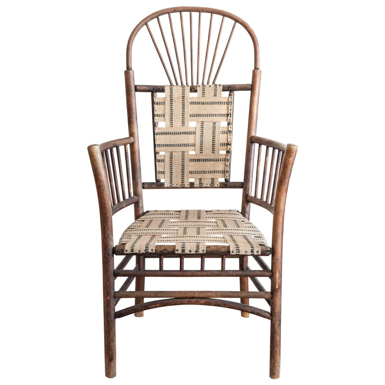 Windsor Style Rustic Armchair | From a unique collection of antique and modern armchairs at https://www.1stdibs.com/furniture/seating/armchairs/