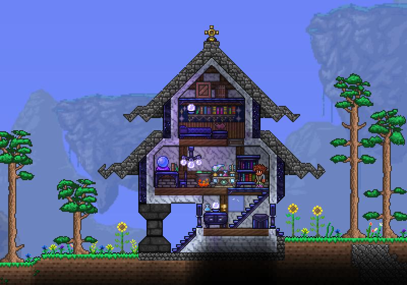 Tidy Little House Terraria Pinterest Terraria Haus
