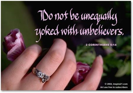 Do not be unequally yoked dating non