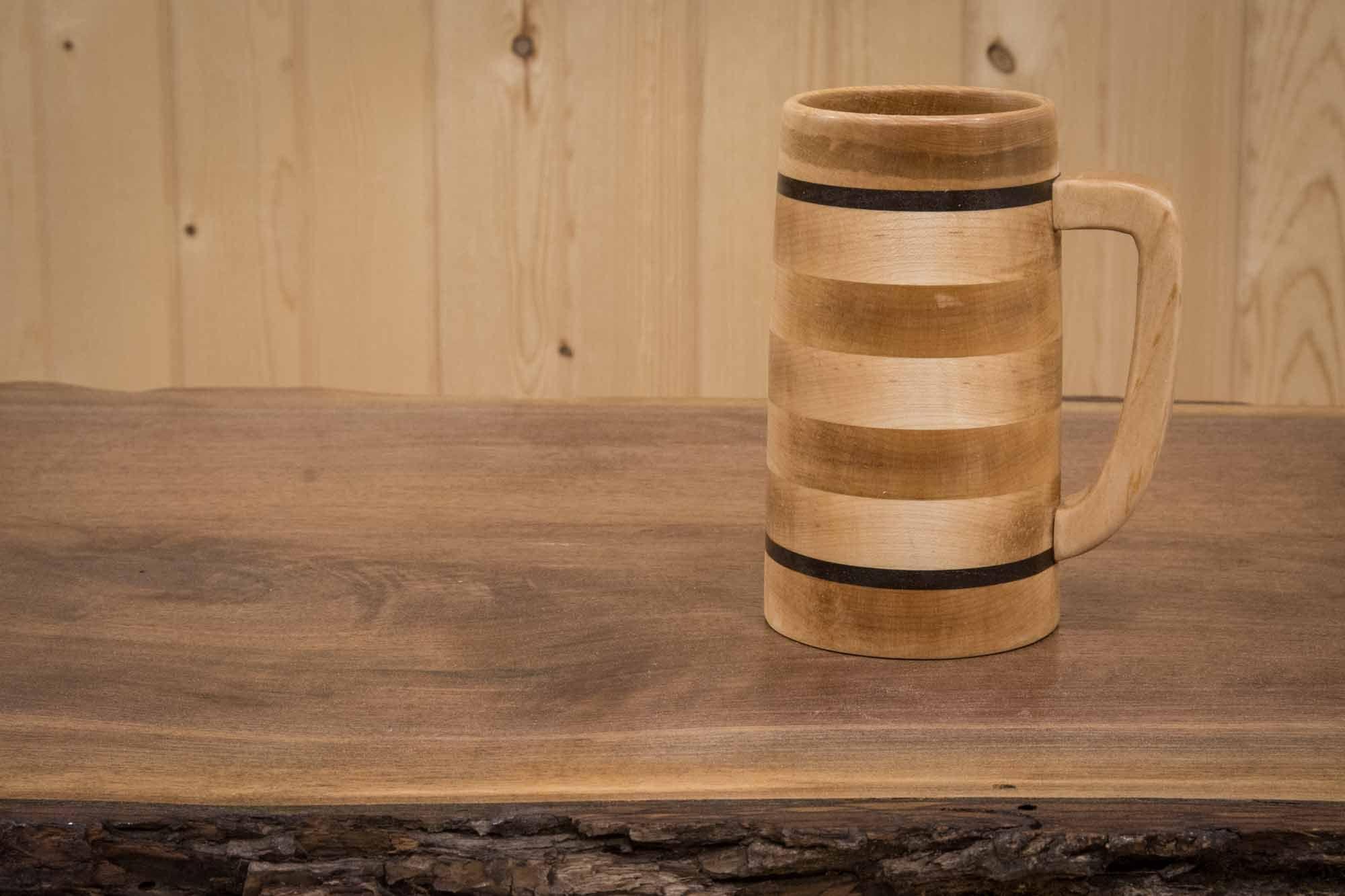 Wood Beer Mug