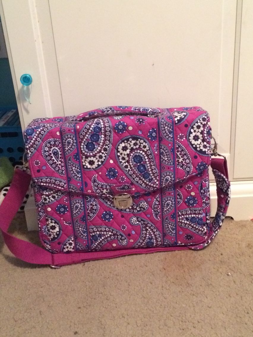 Vera Bradley travel bag I use when I go on the plane