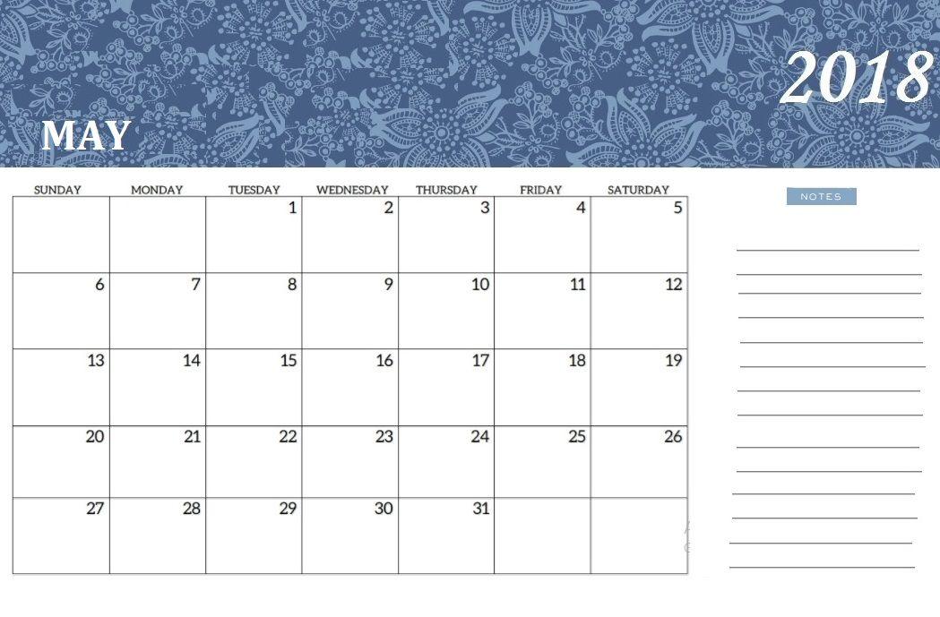 May 2018 Desk Calendar Calendar 2018 2018 Desk Calendar Desk