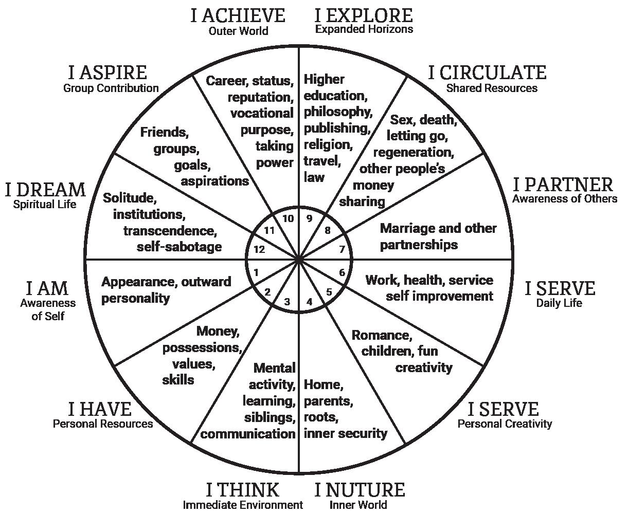 Natal astrology chart