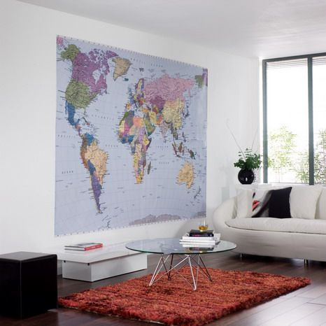 World Map Wall Decor In Living Room Ideas Bedroom Furniture Home
