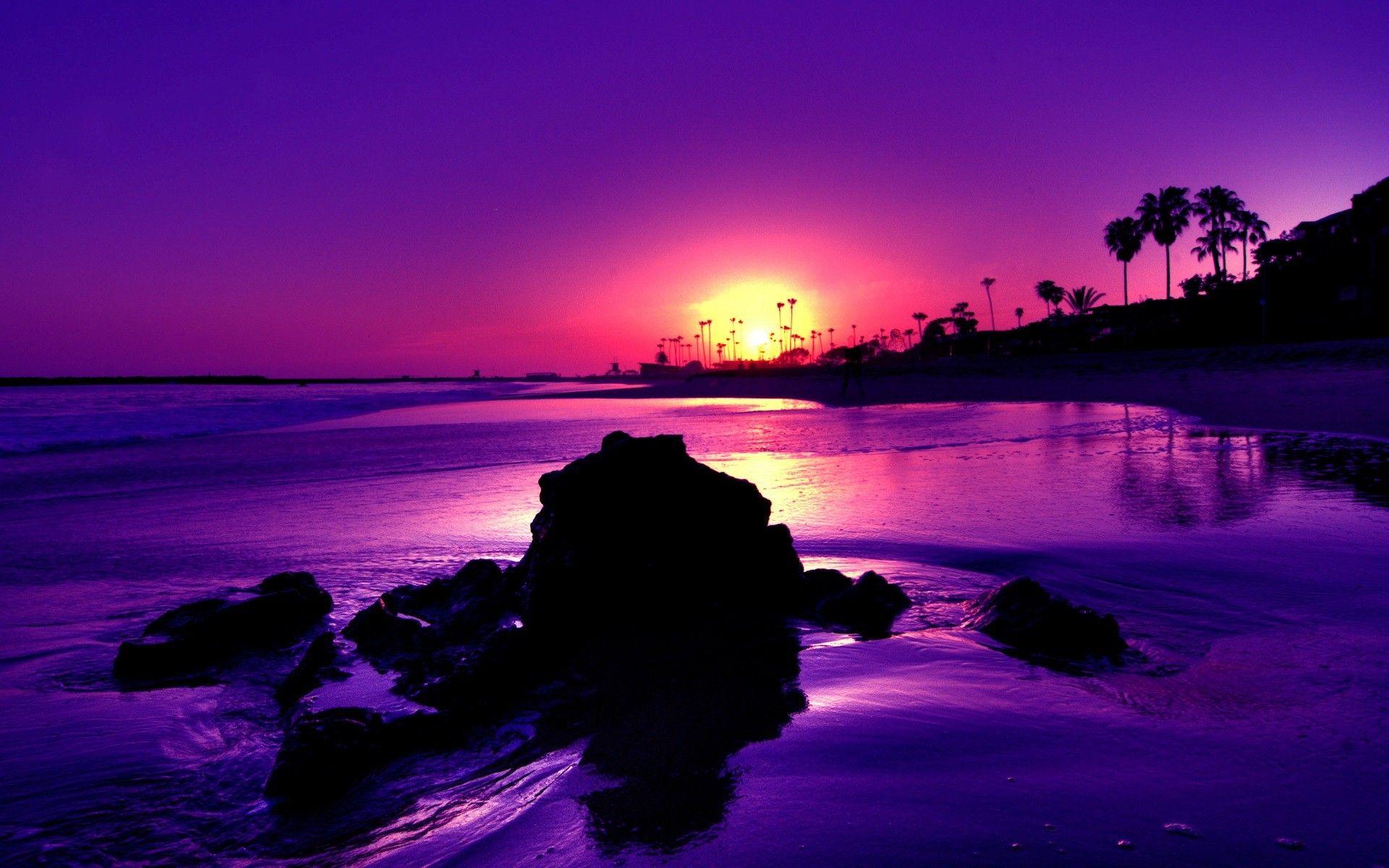 صور عن الطبيعة حقيقية وخيالية Beach Sunset Wallpaper Sunset Wallpaper Purple Sunset