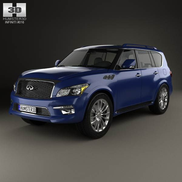 Infiniti QX80 2015 3d Model From Humster3d.com. Price: $75