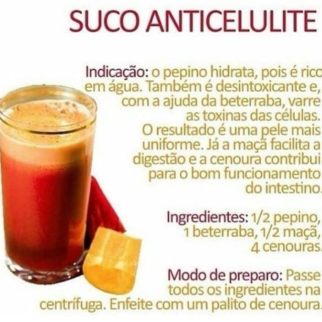 Suco Anticelulite Delicioso. #emagrecer #sade #fitness