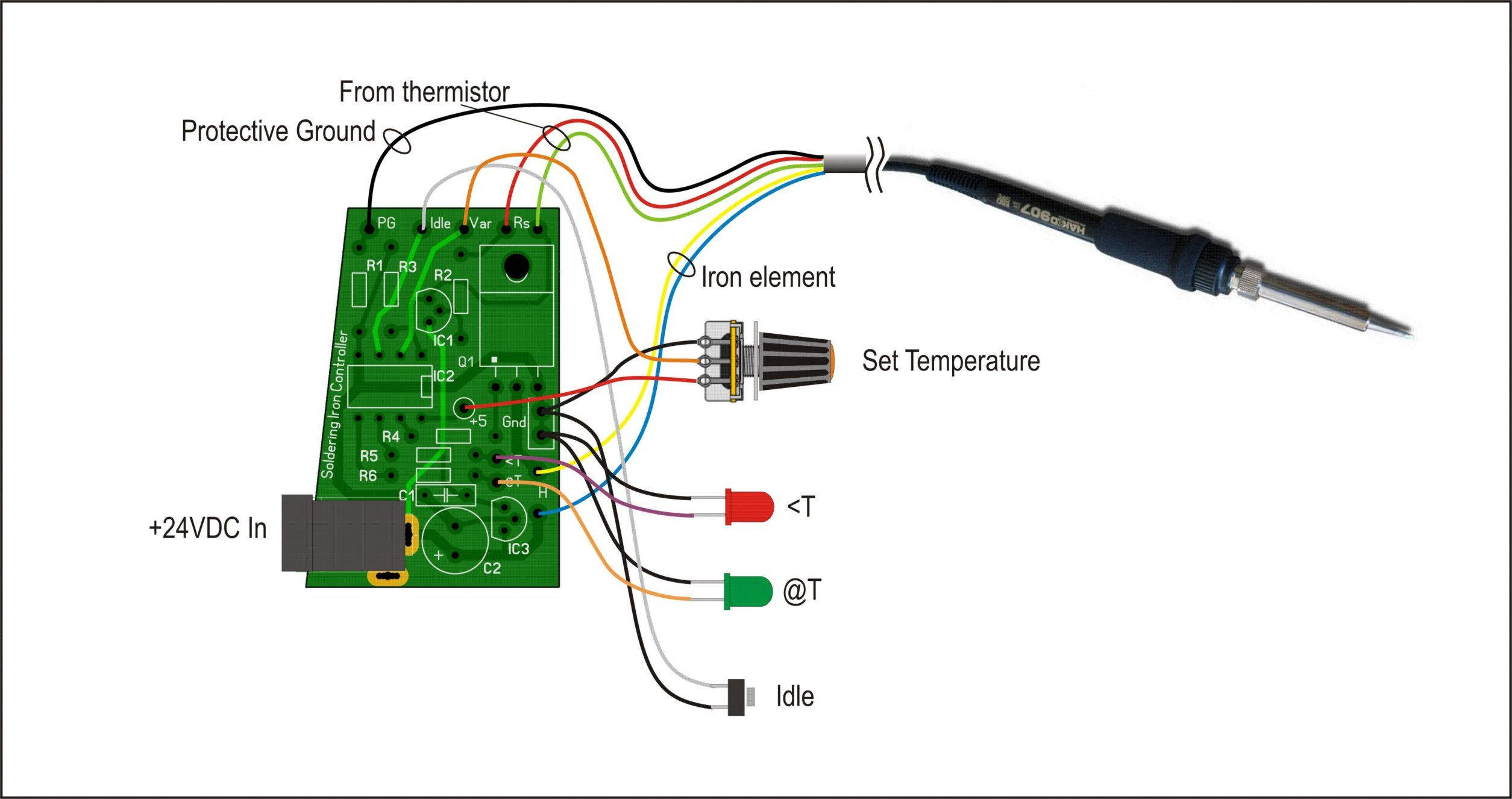 hight resolution of wiring details for the soldering station