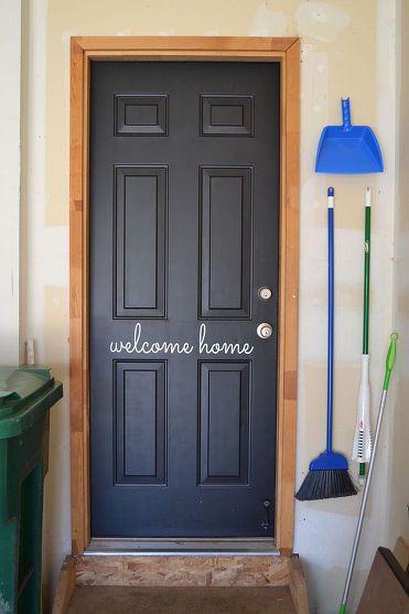 Dress Up Your Garage Entry Door Garage Decor Garage Entry Door