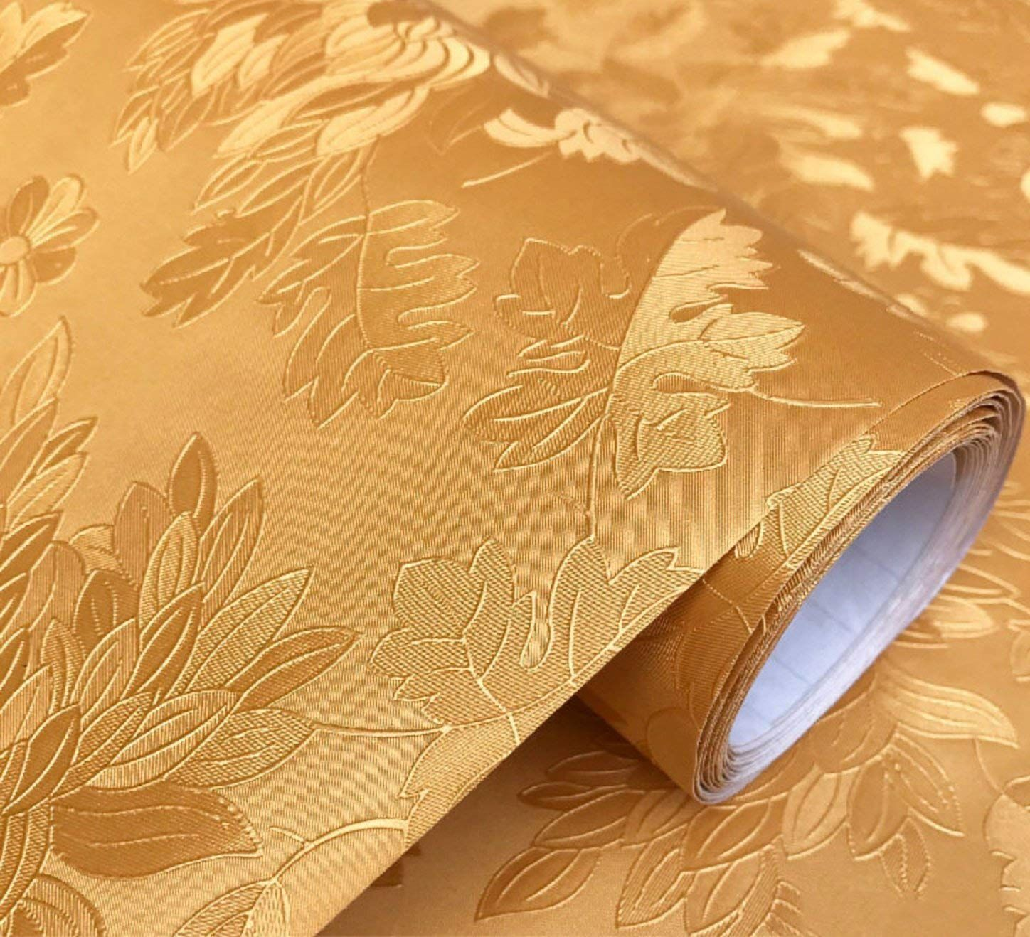 Wow Interiors Golden Peony Roses Royal Peel And Stick Self Adhesive Wallpaper Easily Removable In 2020 Self Adhesive Wallpaper Wallpaper Stickers Wallpaper