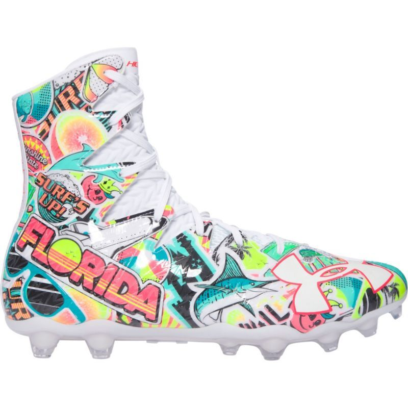 UA Under Armour 1297358 Highlight MC Lacrosse Football Cleats Shoes Gray Mens