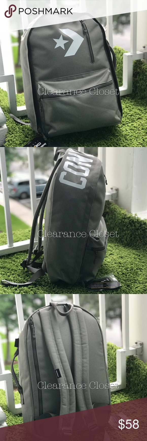0999e0cdbb NWT Converse Street 22 BackpackD Marsh Grey Unisex Brand new with tag.  Price is firm! No trades. Materials: fabric - Textile, Has pocket for  laptop ...