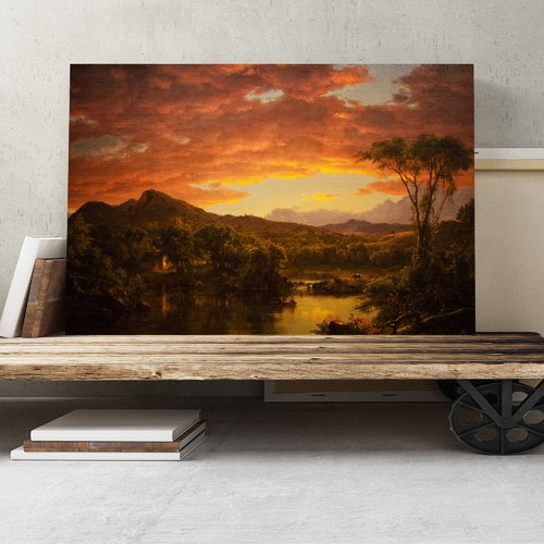 A Country Home By Frederic Edwin Church Painting Print On Canvas