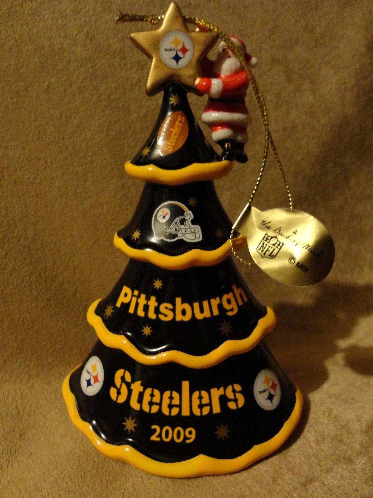 Steelers Christmas Ornaments.The Danbury Mint Nfl Pittsburgh Steelers 2009 Christmas Tree