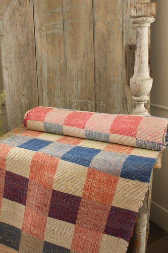 Charming European rag rug ~ can be used as carpet, stair runner , table runner, hallway runner etc ~*~ Lovely hand woven European textile . www.textiletrunk.com