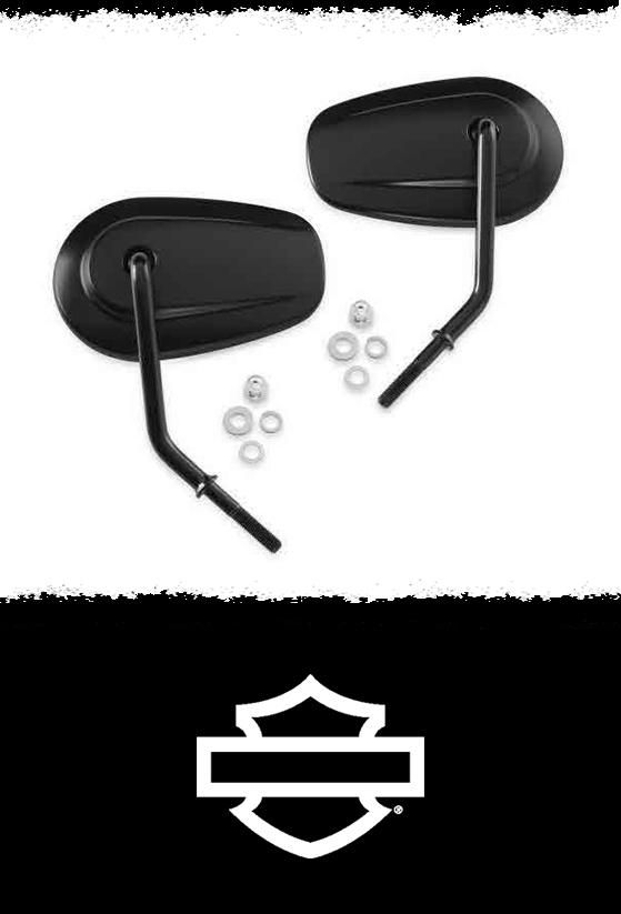 Improves rearward visibility, offers a wider range of adjustment, and eliminates the rear fasteners for a cleaner look. | Harley-Davidson Tapered Short Stem Mirrors #MothersDay