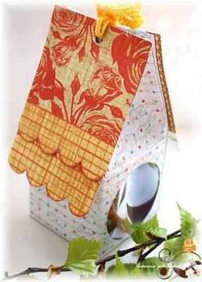 paper bird house
