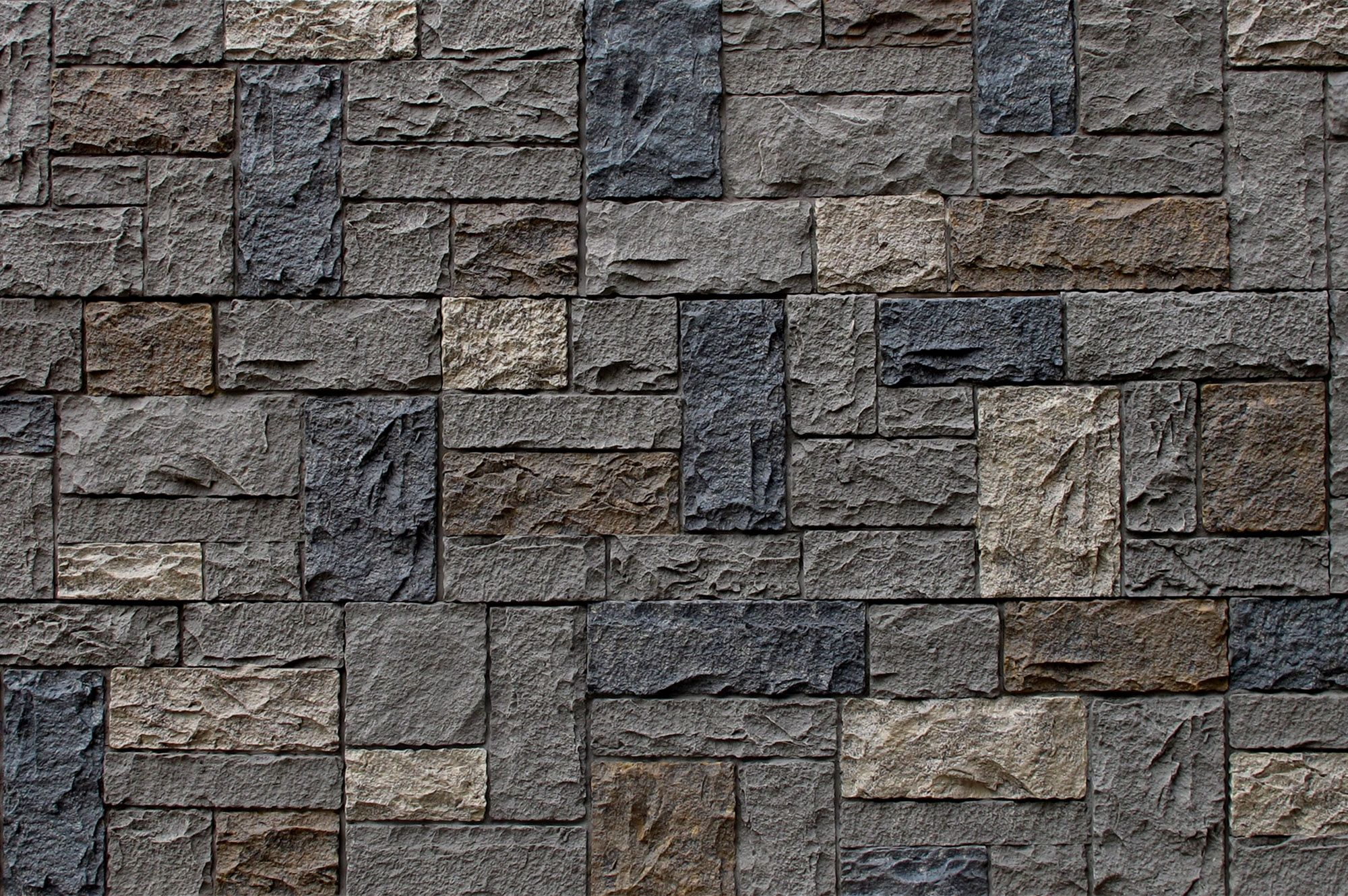 "Faux Stone Siding - Castle Rock - Dover Gray / Panel 43 1/4""x15 1/4""x1 1/4"""