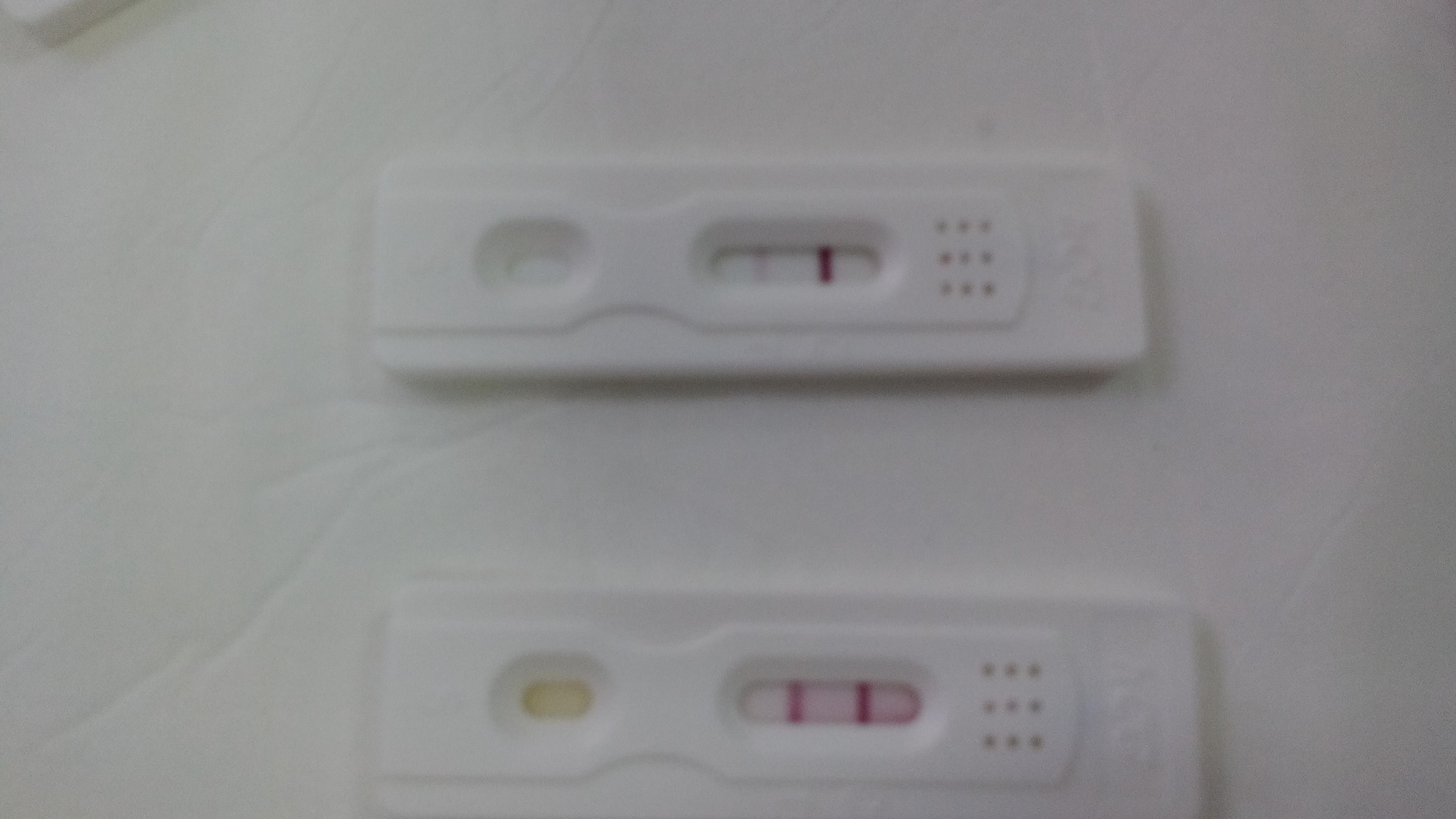 Debil test de embarazo positivo