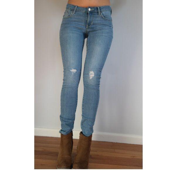 Old navy distressed skinny jeans