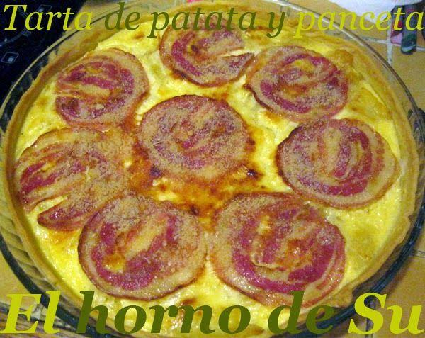 El horno de Su: Tarta de patata y panceta
