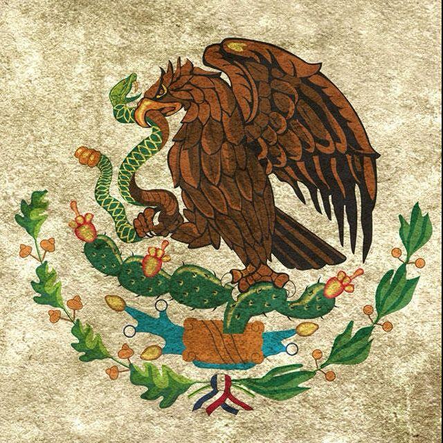 Escudo De La Bandera Puntos De Bordado Mexicano Escudo De Mexico Punto De Cruz Patrones
