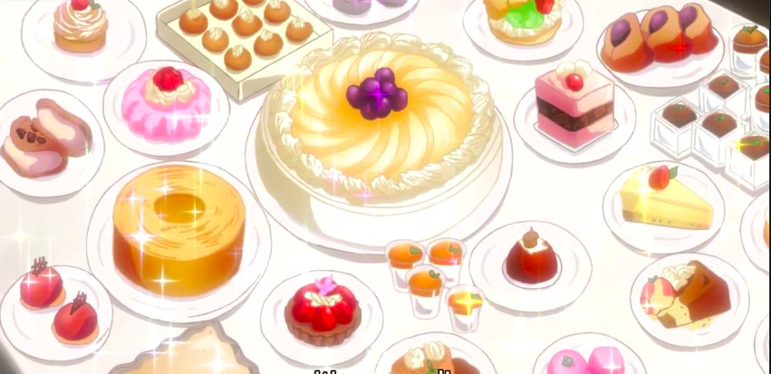 A table full of sweets Food illustrations, Japanese food
