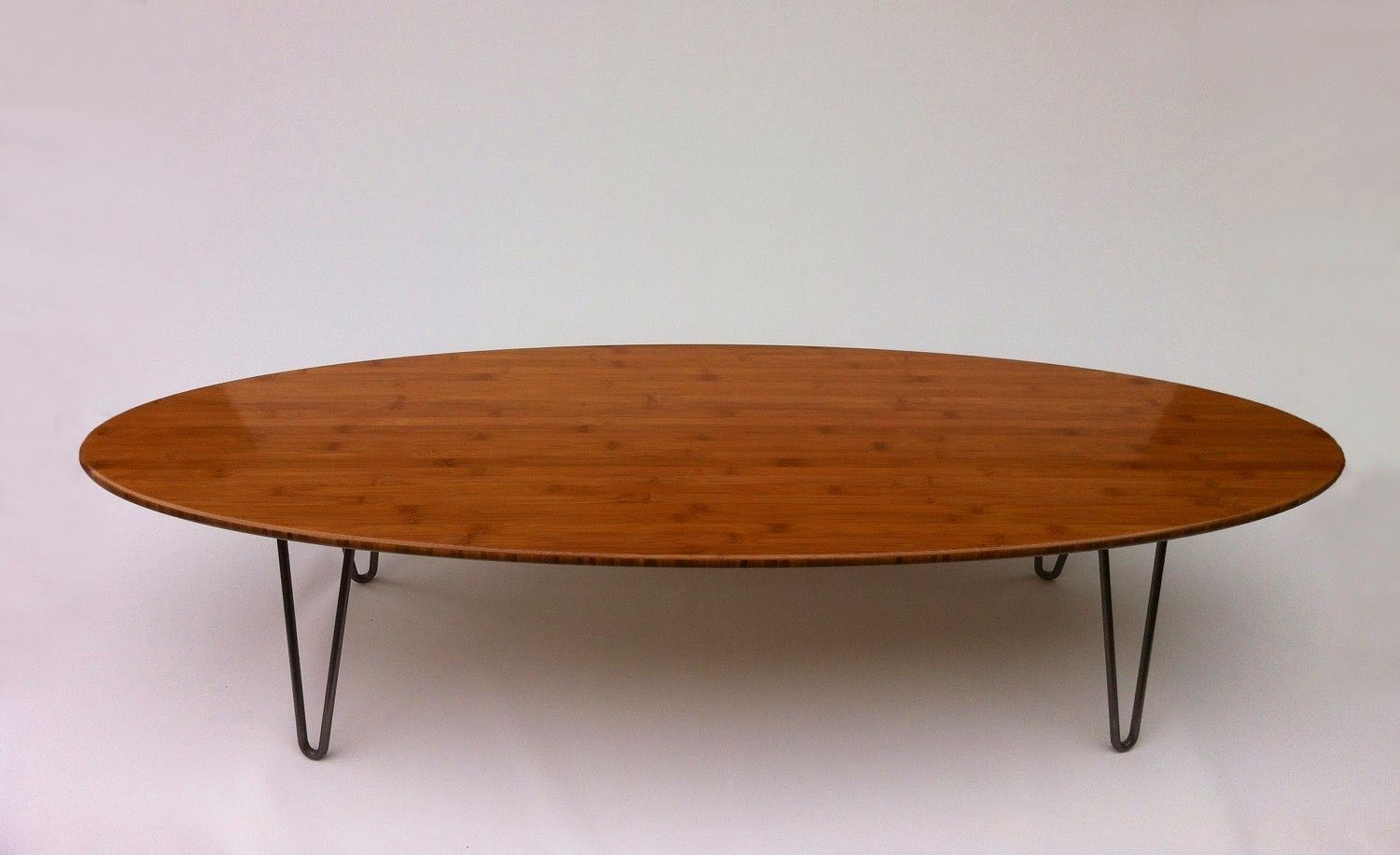 Oval Coffee Table Clic Design Wood With Metal