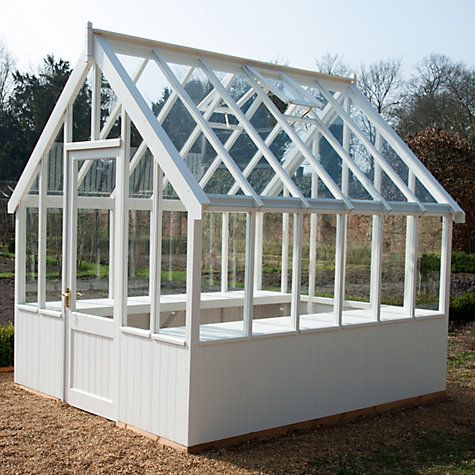 Crane 1.8 x 3m Greenhouse, FSC-certified (Scandinavian Redwood), White