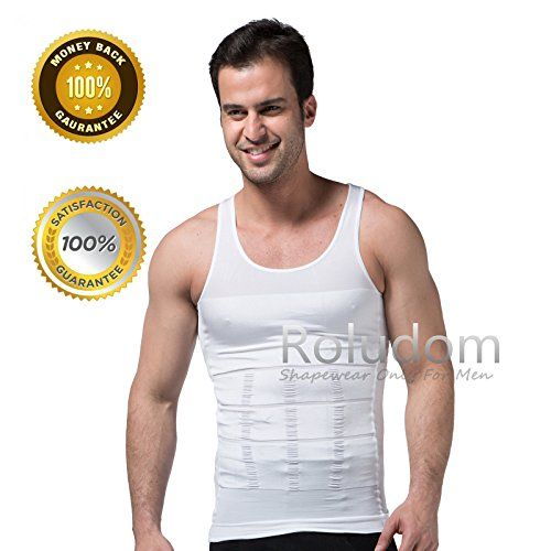 fb3f8d386af52 Roludom Mens Slimming Trimmer Body Shaper Vest Underwears Tank Top White  XXXLarge     For more information