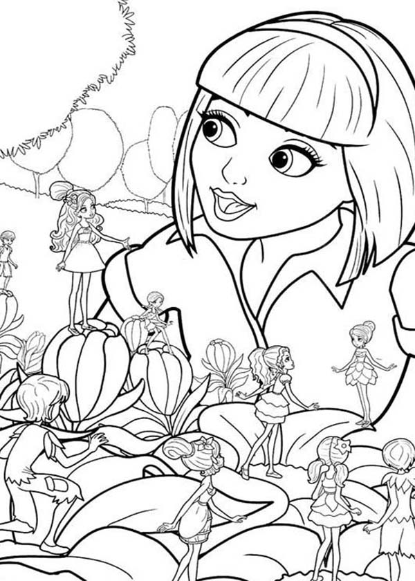 Barbie Thumbelina And Friends Like To Be Friend With Vanessa Coloring Pages Best Place To Color Coloring Pages Barbie Coloring Coloring Pictures