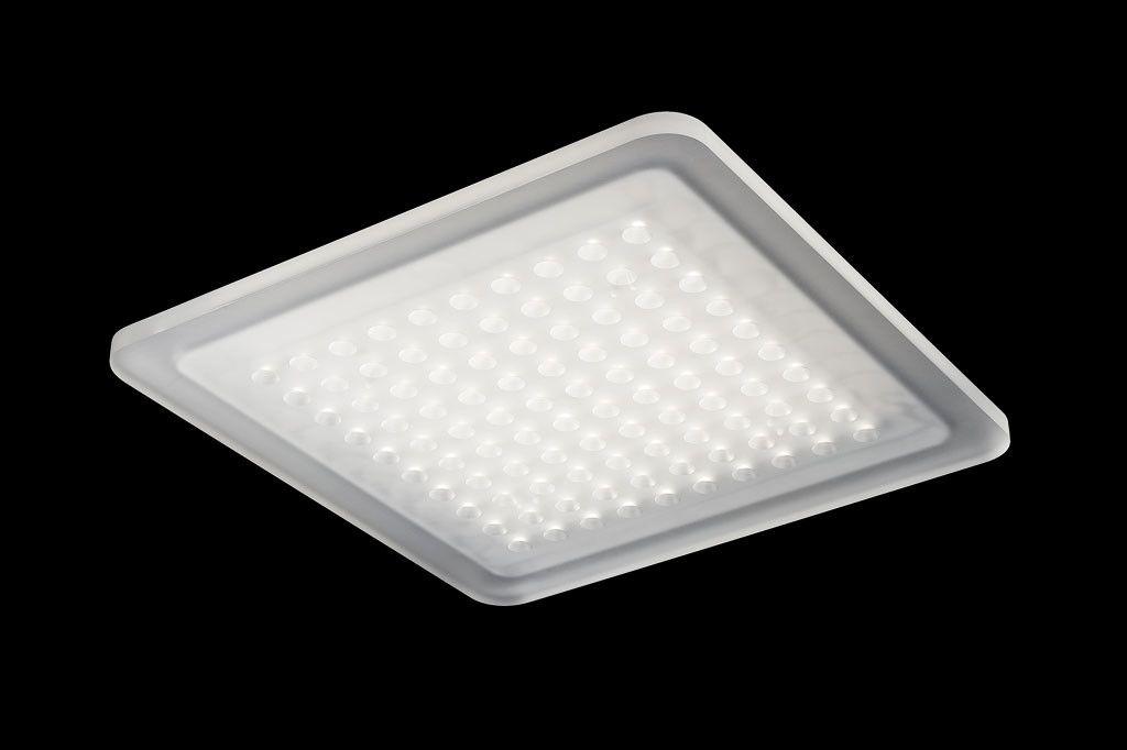 Extrem flache, nur 10 mm hohe spritzwassergeschützte LED