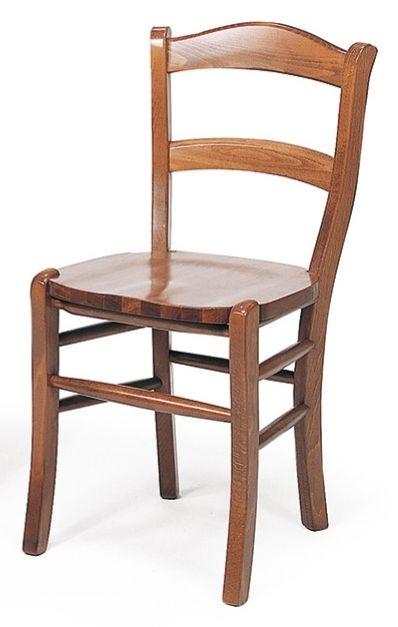 Sedia in legno con seduta legno cod 3014/L color noce chiaro. Adatta ...