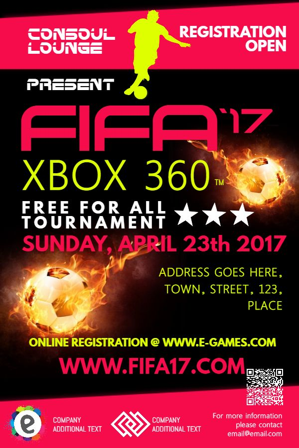 Fifa Gaming Tournament Poster Design Template Click To Customize Gaming Posters Soccer Poster Poster Template