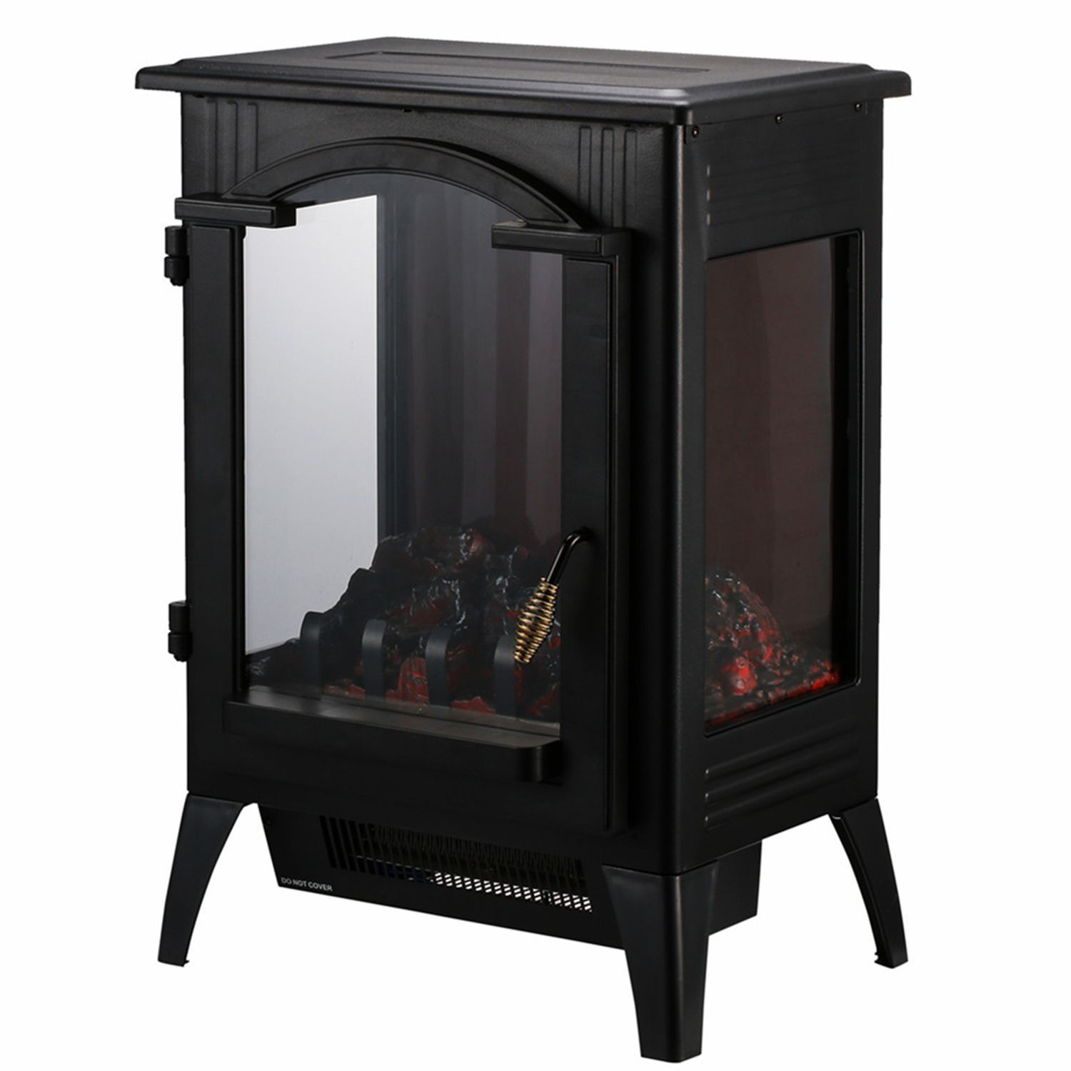 Portable Indoor Home Compact Electric Wood Stove Fireplace Heater With Thermostat For Office In 2020 Electric Wood Stove Wood Stove Wood Stove Fireplace