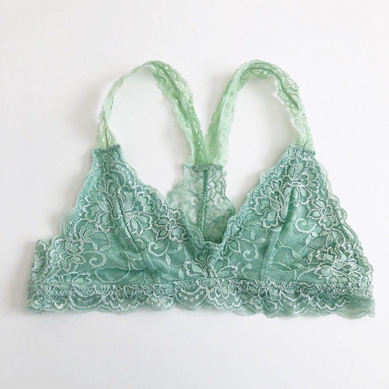 f154bd0d10 Sage Back Lace Racerback Bralette – 1215 Clothing