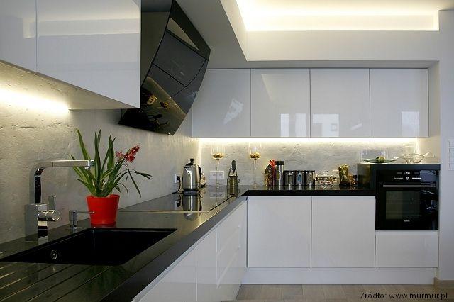 Beton architektoniczny  nowoczesne aranżacje kuchni   -> Kuchnia Nowoczesna I Praktyczna