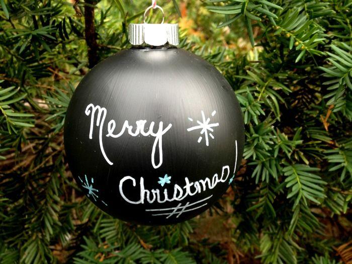 Treetopia Loves Chalkboard Paint Decorating Ideas Treetopia Chalkboard Ornament Diy Christmas Ornaments Diy Chalkboard