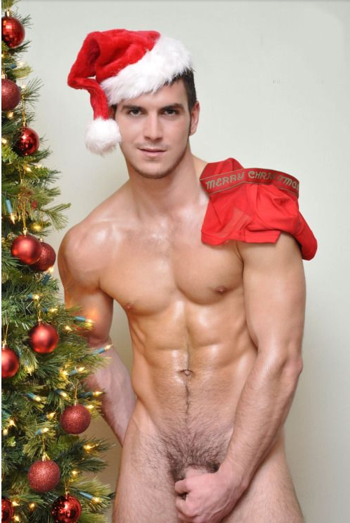 gay christmas Naked men